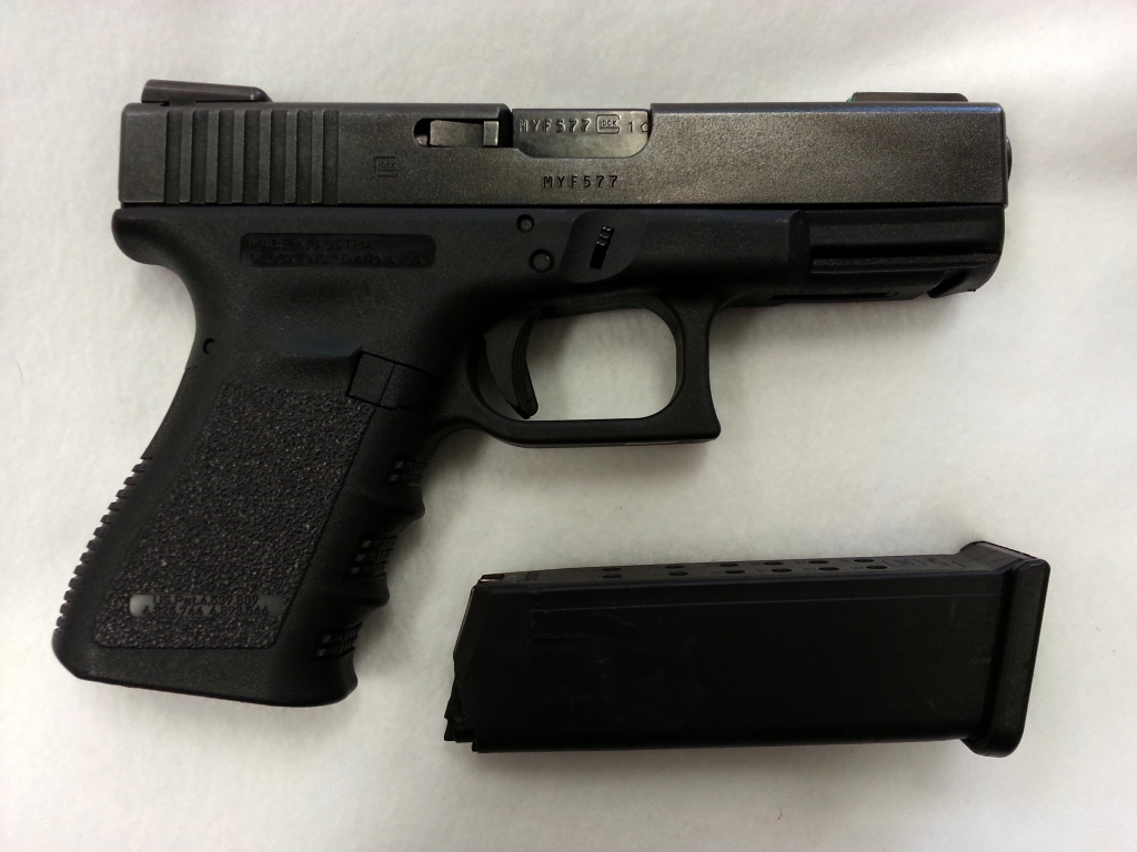 Glock 19 Gen 3 with night sights