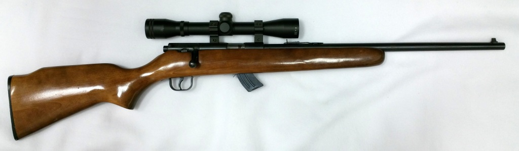 Lakefield Mark II 22 LR Bolt action rifle with scope
