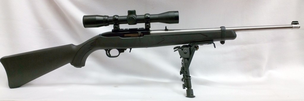 Ruger 10-22 with bipod with scope