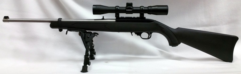 Ruger 10-22 with bipod with scope-2